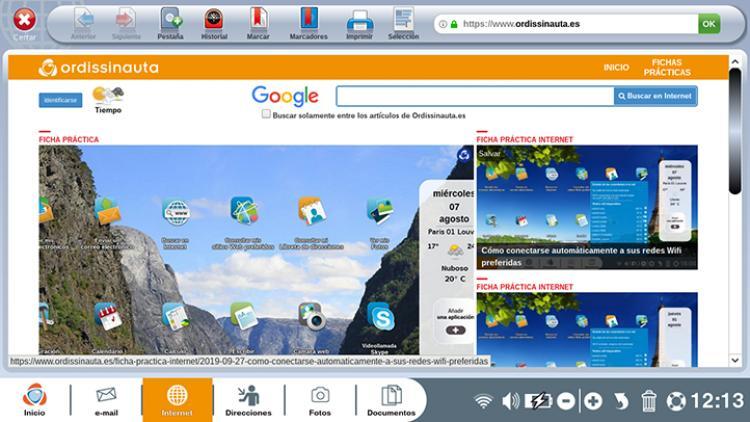 presentación de la aplicación web
