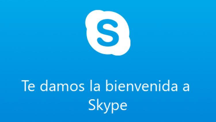 Bienvenida a Skype